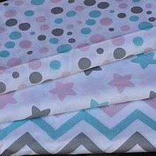 Textil - Sivo- ružovo-mentolová kolekcia. - 8323325_