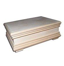 Polotovary - M20- Krabička s ozdobným výfrezom - 8323161_