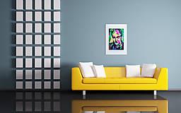 Grafika - Print A3 na papieri A2 (v ráme) z originál obrazu Abstraktný portrét XIV. - 8322818_