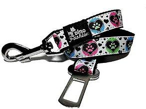 Pre zvieratká - Pás pre psa do auta Heart Paw - 8322198_