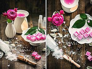 Svietidlá a sviečky - Vonný vosk - Ruža - 8323135_