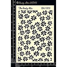 Pomôcky/Nástroje - Dusty Attic - Flower Power (šablóna s kvetinovým vzorom) - 8321678_