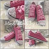 Obuv - Ručne zdobené ružové tenisky PINK POWER:* - 8322765_