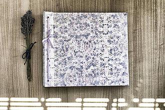 Papiernictvo - Fotoalbum klasický polyetylénový obal s potlačou jemných kvetiniek - 8323760_