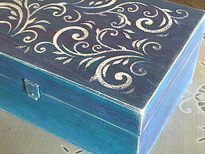 Krabičky - Originální krabička,šperkovnice s reliéfy - 8323216_
