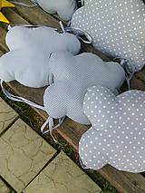Textil - obláčiky v sivom - 8322494_