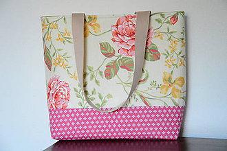 Veľké tašky - Taška kvety - 8323650_