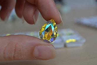 Komponenty - Kabošon sklenený citrin AB 13x18mm, 0.55€/ks - 8322106_