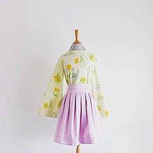 Sukne - Fialová sukienka  - 8322135_