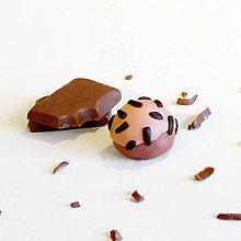 Kľúčenky - Bonbony (Čokoládová pralinka s polevou a posýpkou) - 8324109_