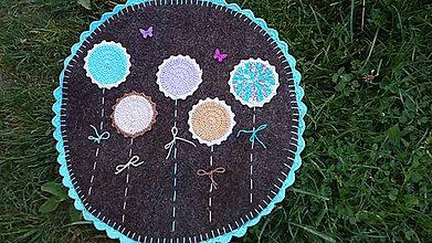 Úžitkový textil - Nebeská krása - koberček z ovčieho rúna/súkna - Ihneď k odberu - 8325466_
