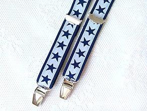 Doplnky - Pánske retro traky s hviezdičkami - 8327005_