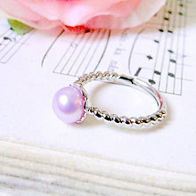 Prstene - Simple Freshwater Pink Pearl Ring / Prsteň s ružovou sladkovodnou perlou /0561 - 8325125_
