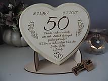 Dekorácie - Srdce z masívu na výročie - 8324937_
