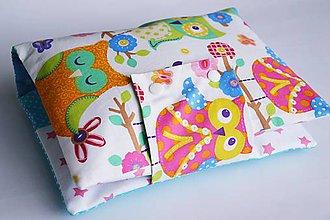 Detské doplnky - Obal na plienky pestré sovičky - 8324468_