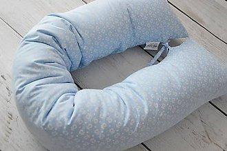 Textil - Medzinožník - vankúš na dojčenie modré srdiečka - 8325499_
