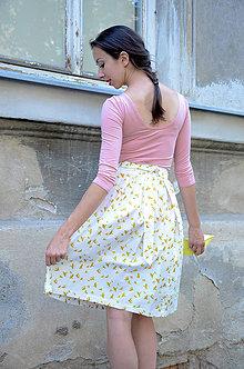 Sukne - Zavinovací sukně Zlatí ptáčci - 8325398_