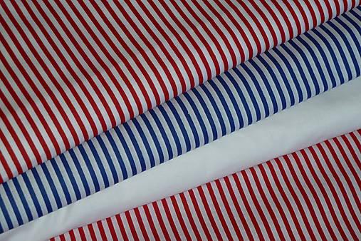 8dcdc5179 Látka Červený a modrý pásik (Červená) / SlovAB - SAShE.sk - Handmade ...