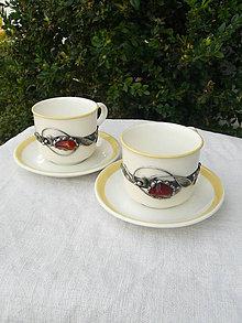 Nádoby - Šálka na kávu ozdobená achátom III - 8326110_