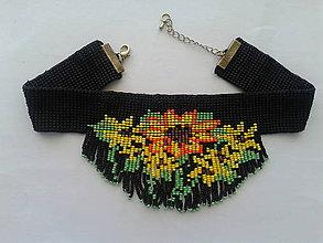 Náhrdelníky - chocker čierny - 8325318_