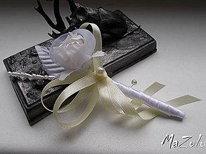 Pierka - Svadobné pierko pre ženícha,rodičov, svedka.... - 8325714_