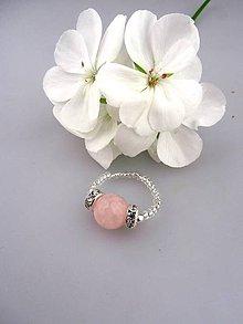 Prstene - ruženín prsteň flexibilný- daruj z lásky - 8325808_