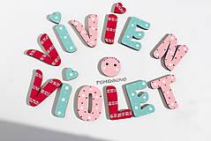 Tabuľky - VIVIEN VIOLET 6 cm písmenká - 8326205_