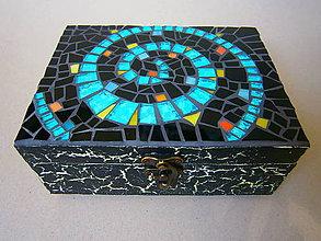 Krabičky - krabička Modrá špirála - 8326825_