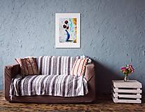 Grafika - Print A3 na papieri A2 (v ráme) z originál obrazu Ruže - 8326431_
