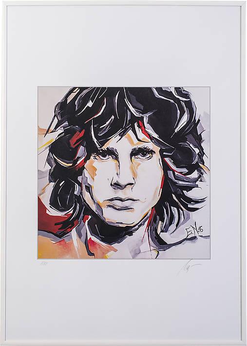 Print A3 na papieri A2 z originál obrazu  Abstraktný portrét X.