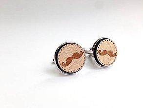 Šperky - Manžetové gombíky Fúzy múzy svetlé - 8324838_