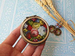 Zrkadielka - Ruský folk #12 (zrkadielko + náušničky) - 8326241_