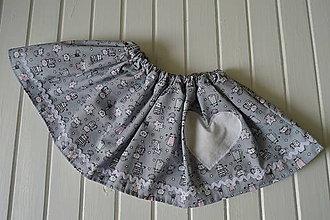 Detské oblečenie - Pískacia sukňa - mačičkovská - 8324681_