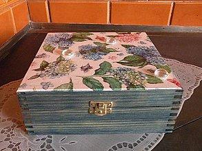 Krabičky - Krabička Hortenzie s rosou - 8326428_