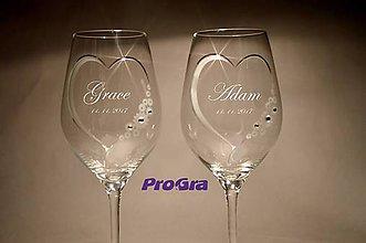Nádoby - Grace - svadobné poháre 2ks - 8325616_