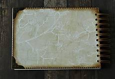 Papiernictvo - Vintage svadobná kniha a svadobný fotoalbum v jednom/rodinný album/kronika LOVE-Čipka - 8324242_