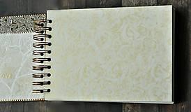 Papiernictvo - Vintage svadobná kniha a svadobný fotoalbum v jednom/rodinný album/kronika LOVE-Čipka - 8324245_