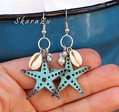 Náušnice - Hviezdice na dlani - 8325089_