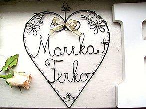 Dekorácie - Maxi svadobné v bielom 24 cm - 8324276_