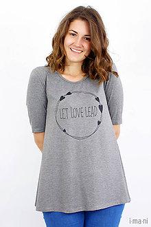 Tričká - Dámske tričko BAMBUS 01 LET LOVE LEAD - 8325064_