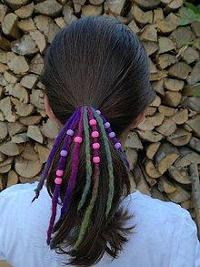 Ozdoby do vlasov - Farebný strapec do vlasov - 8329020_