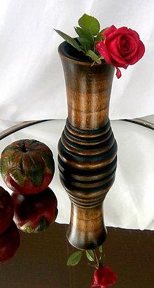 Dekorácie - dekoratívna drevená váza... - 8327319_