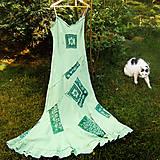 Ľanové šaty hráškové- zľava z 29,5 €