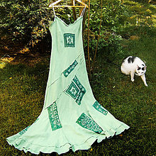 Šaty - Ľanové šaty hráškové- zľava z 29,5 € - 8329071_