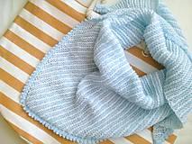 Šatky - Šatka bielo-modré pásiky - 8328832_