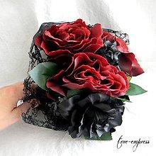 Dekorácie - Gotická svadobná kytica - 8327375_