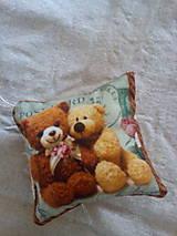 Detské doplnky - Mini vankúšik Macko - 8328382_