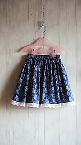 Detské oblečenie - Modrotlačová suknička - 8328211_