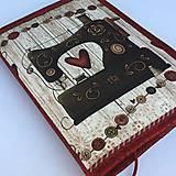 Papiernictvo - Šicí stroj - obal na knihu - 8329250_