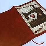 Papiernictvo - Šicí stroj - obal na knihu - 8329253_